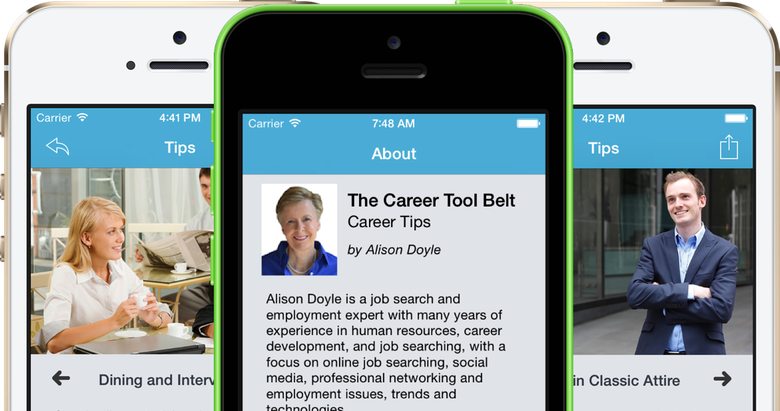 Have Hundreds Of Job Search And Career Tips In The Palm Of Your Hand With  The Career Tool Belt Mobile App Series By Alison Doyle.